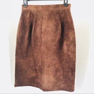 Vintage Suede Ann Taylor Skirt